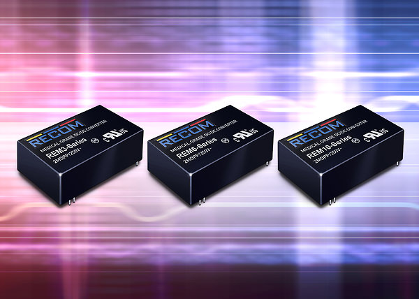 Medical-grade DC/DC converters from Recom