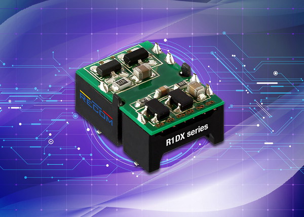 RECOM's R1DX dual-output isolated DC-DC converters